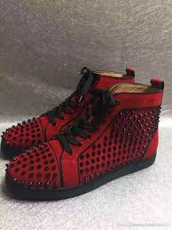 mens black shoes with red soles