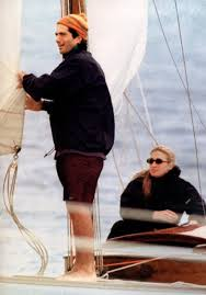 jfk jr and carolyn bessette kennedy on the water shots i like