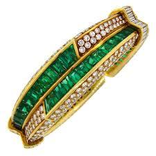 emerald diamond gold bracelet images Harry winston emerald diamond bracelet for sale at 1stdibs jpg