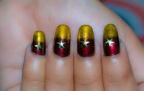 red and gold christmas nails easy to do nails at home for