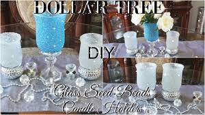 Pinterest Dollar Tree Crafts by Diy Dollar Tree Bling Glass Beads Candle Holders Petalisbless