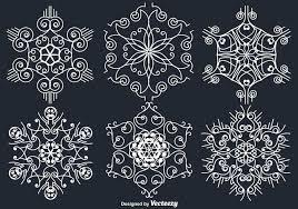 white ornamental white snowflakes free vector