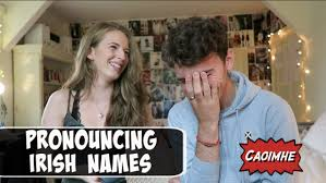 aussie tries to pronounce irish names youtube