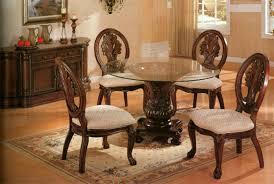 Glass Round Kitchen Table Wood Round Kitchen Table U2013 Kitchen Ideas