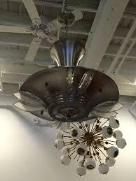 french art deco modernist ceiling light or chandelier u2013 1 of a kind nj