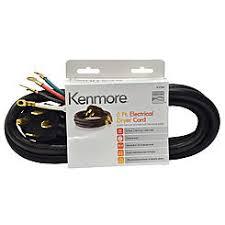 kenmore dryer plug cord