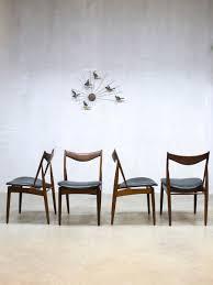 Esszimmerst Le Leder Vintage Skulpturale Vintage Esszimmerstühle Von Kurt østervig Für Bramin