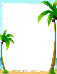 palm tree border clip page border and vector graphics