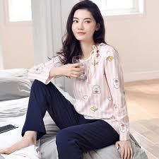 online shop new arrival leisure cotton loungewear pyjamas women