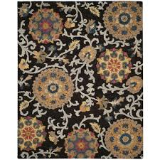 Safavieh Blossom Rug Safavieh Blossom Charcoal Multi 8 Ft X 10 Ft Area Rug Blm401a 8
