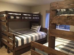 Extra Long Twin Bunk Bed Plans by House Plan Montana Extra Long Twin Over Queen Bunk Bed Inspiration
