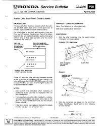 how to retrieve radio code for honda accord accord lx i need to how to get my radio code for