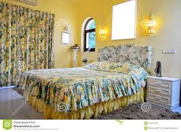 yellow floral bedroom royalty free stock image image 34541736