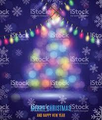 shiny fir tree with christmas lights stock vector art 498097738