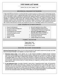 Training Resume Examples by Mechanical Engineer In Training Resume Template Premium Resume