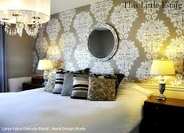 Floral Wall Stencils For Bedrooms Flower Wall Stencil Ideas For Amusing Bedroom Stencil Ideas Home