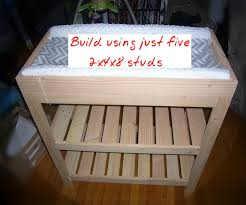How To Make A Baby Changing Table Baby Changing Table From Five 2x4x8 Studs