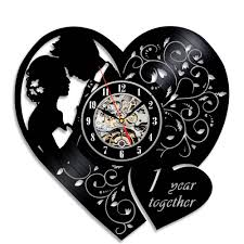 1st wedding anniversary gift creative vinyl wall clock