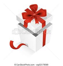big present bow cubic gift box with silk ribbon and big bow isolated vector