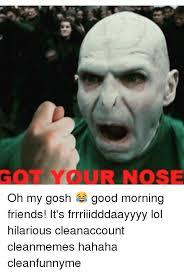 Gosh Meme - ur nose oh my gosh good morning friends it s frrriiidddaayyyy