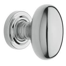 Interior Door Knobs Lowes Shop Baldwin Estate Egg Polished Chrome Egg Passage Door Knob At