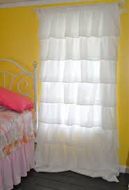 Ruffled Curtains Pink Bedroom Curtains For Girls Dreaming Of June