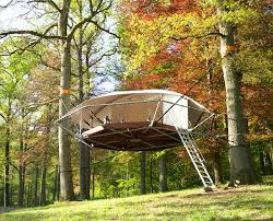 The Origami Inspired Folding Bamboo House Inhabitat Sustainable Design Innovation Eco - suspended dom u0027up tree tents look like flying saucers in the forest