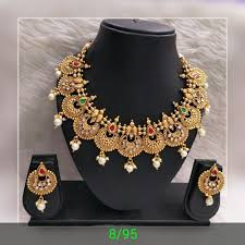 ethnic necklace design images Vardhaman goodwill indian ethnic jewellery rs 350 set id jpg