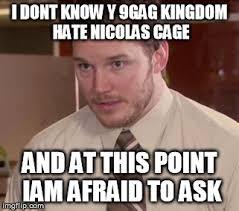 9gag Meme Maker - afraid to ask andy closeup meme imgflip