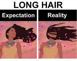 Long Hair Dont Care Meme - long hair do care all the elements are my enemies