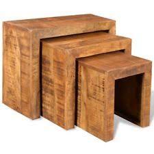 Mango Wood Side Table Solid Wood Tables Ebay
