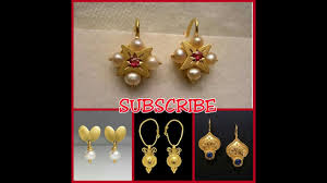small size gold earrings designs