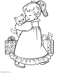 christmas coloring pages christmas kitten