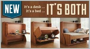 Diy Murphy Desk Fold Down Bed Murphy Bed Wfolding Desk Manchester Custom Awesome