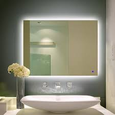Wall Vanity Mirror 703e Alice Dimmable And Anti Fog Led Backlit Mirror Wall Mount