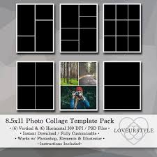 8 5 x11 photo album 8 5x11 photo template pack collage templates portfolio
