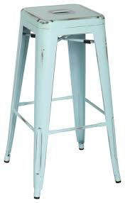 distressed metal bar stools dining room wingsberthouse