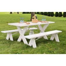 vinyl picnic table and bench covers furniture vinyl picnic table dura trel ft white with unattached