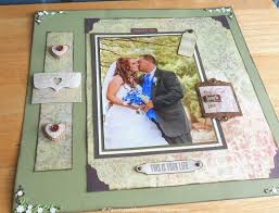 rustic wedding scrapbook about crafting rustic wedding scrapbooking page