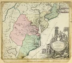 County Map Of Virginia Lot 267 Johann Baptist Homann Map Of Virginia Maryland And