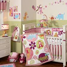 Monkey Crib Bedding Sets Baby Nursery Cute Baby Room Decorations Brown Animal Mobile Crib