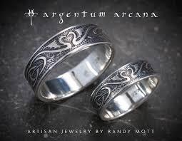 dragon engagement rings images Dragon wedding ring set silver celtic wedding bands unique etsy jpg