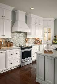 Limestone Kitchen Backsplash Walnut Wood Cherry Shaker Door American Woodmark Kitchen Cabinets