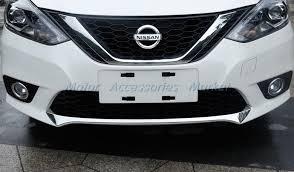 new chrome front bumper cover trim for nissan sentra 2016 2017 ebay