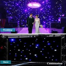 cheap led star curtain wedding stage backdrop cloth black stage