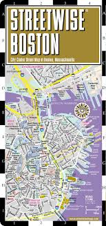 boston city map streetwise boston map laminated city center map of boston