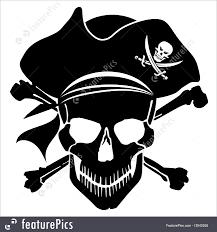 halloween pirate background illustration of pirate skull