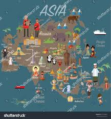 Asia Map by Asia Map Travel Stock Vector 431106862 Shutterstock