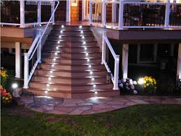 simple deck stair lights creating for deck stair lights