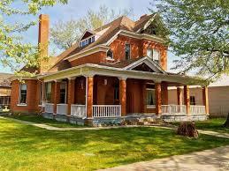 red brick victorian home w wraparound porch cabins u0026 victorian